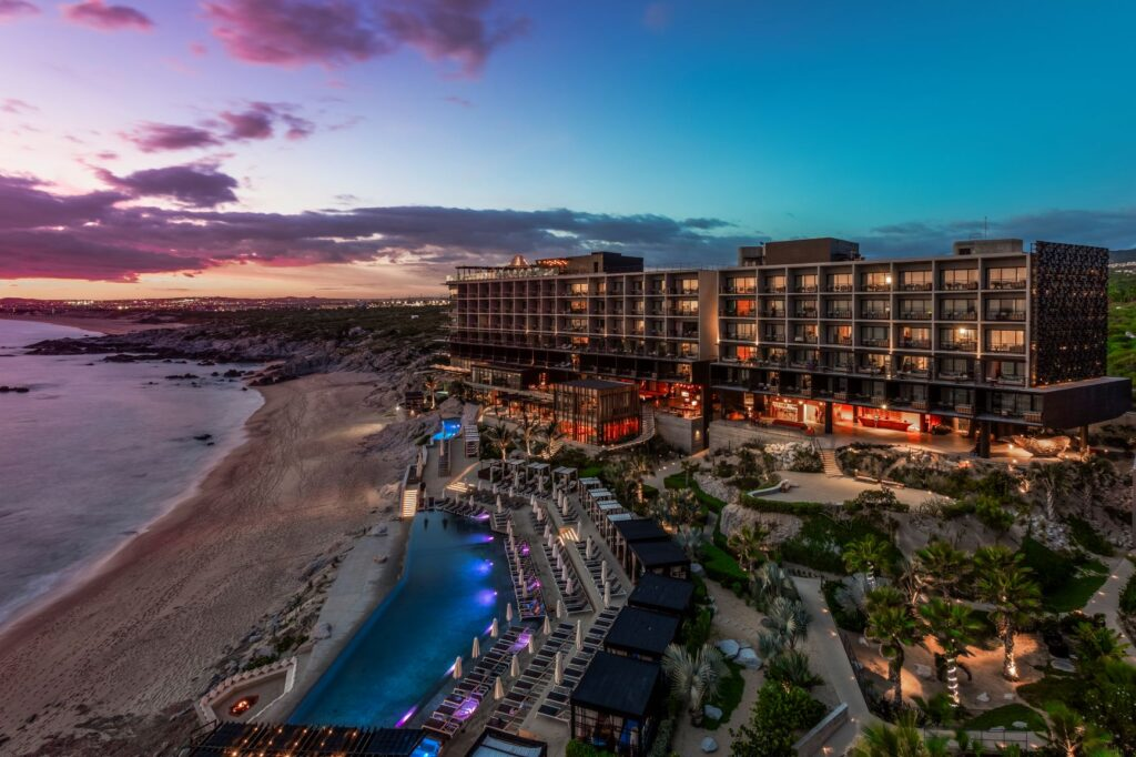 Wide Exterior Night Shot of The Cape a Thompson Hotel