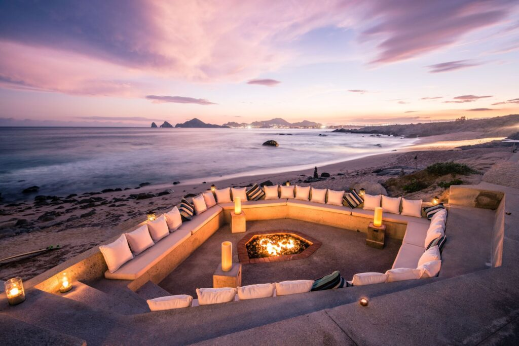 Firepit at The Cape, a Thompson Hotel - Photo Credit Nick Hall