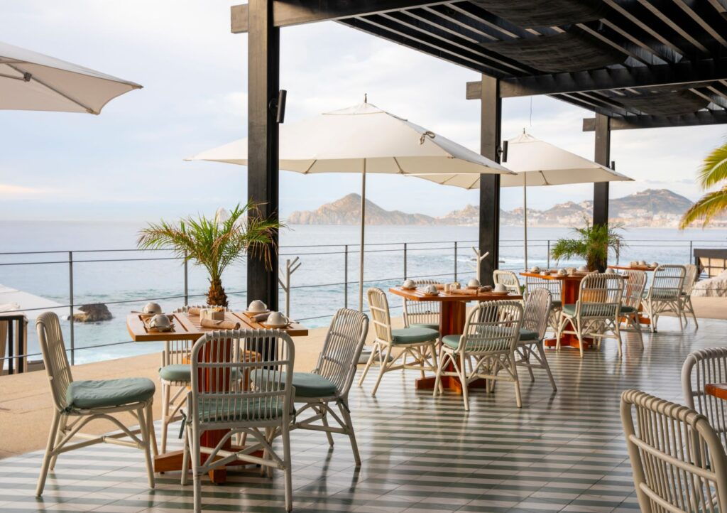 The Ledge Outdoor Dining - The Cape, a Thompson Hotel - Photo Credit The Cape, a Thompson Hotel