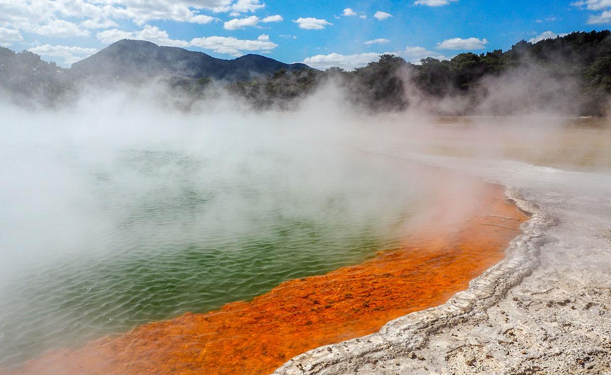 Maori New Zealand hot spring thermal pool