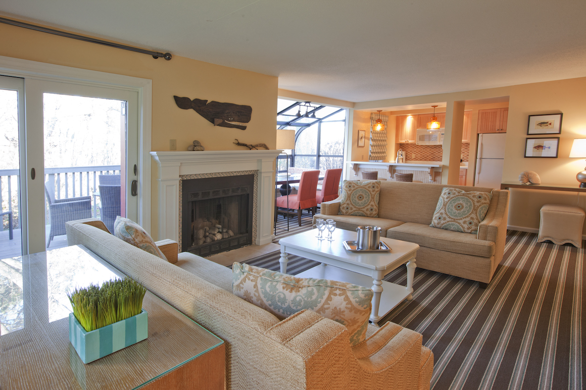 Ocean Edge - Mansion - Presidential - Bay - Three - Bedroom - Livingroom